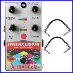 Alexander Pedals Neo Syntax Error Glitch MIDI Guitar Effects Pedal + Cables