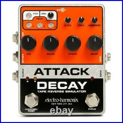 Electro Harmonix EHX Attack Decay Tape Reverse Simulator Guitar Effects Pedal