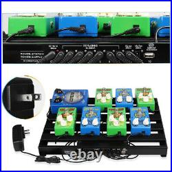 Guitar Powered Effect Pedal Board 15'' x 11 with Power Supply & 8 Power Cable