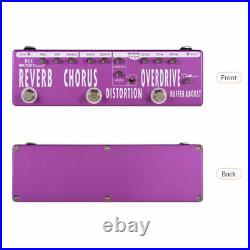 MOSKY 6 Effects Guitar REVERB CHORUS DISTORTION OVERDRIVE BOOSTER BUFFER Pedal