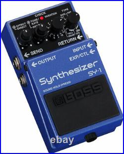 New Boss SY-1 Synthesizer Guitar Effects Pedal Free Cables