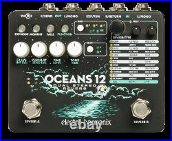 New Electro-Harmonix EHX Oceans 12 Dual Stereo Reverb Guitar Effects Pedal