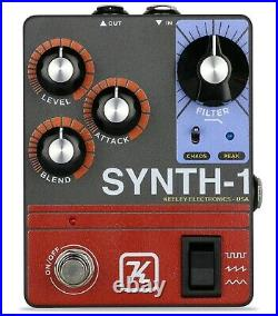 New Keeley Synth-1 Reverse Attack Fuzz Wave Generator Guitar Effects Pedal