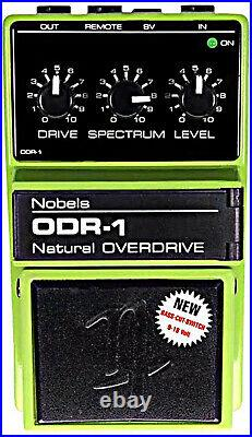 Nobels ODR-1 BC Natural Overdrive w Bass Cut Switch Guitar Effects Pedal 9-18 vt