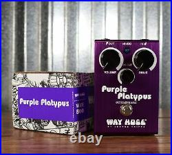 Way Huge Electronics WHE800 Purple Platypus Overdrive Octave Guitar Effect Pedal